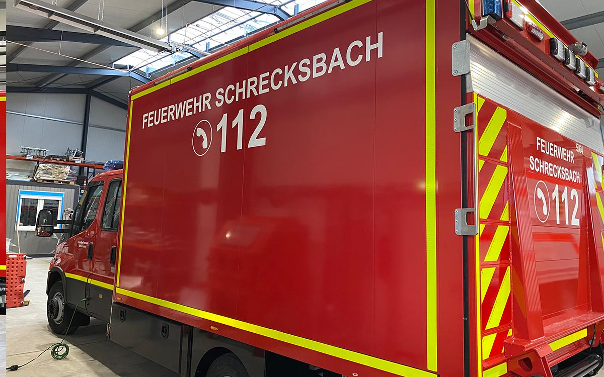 Fahrzeugbeschriftung Feuerwehr Schrecksbach
