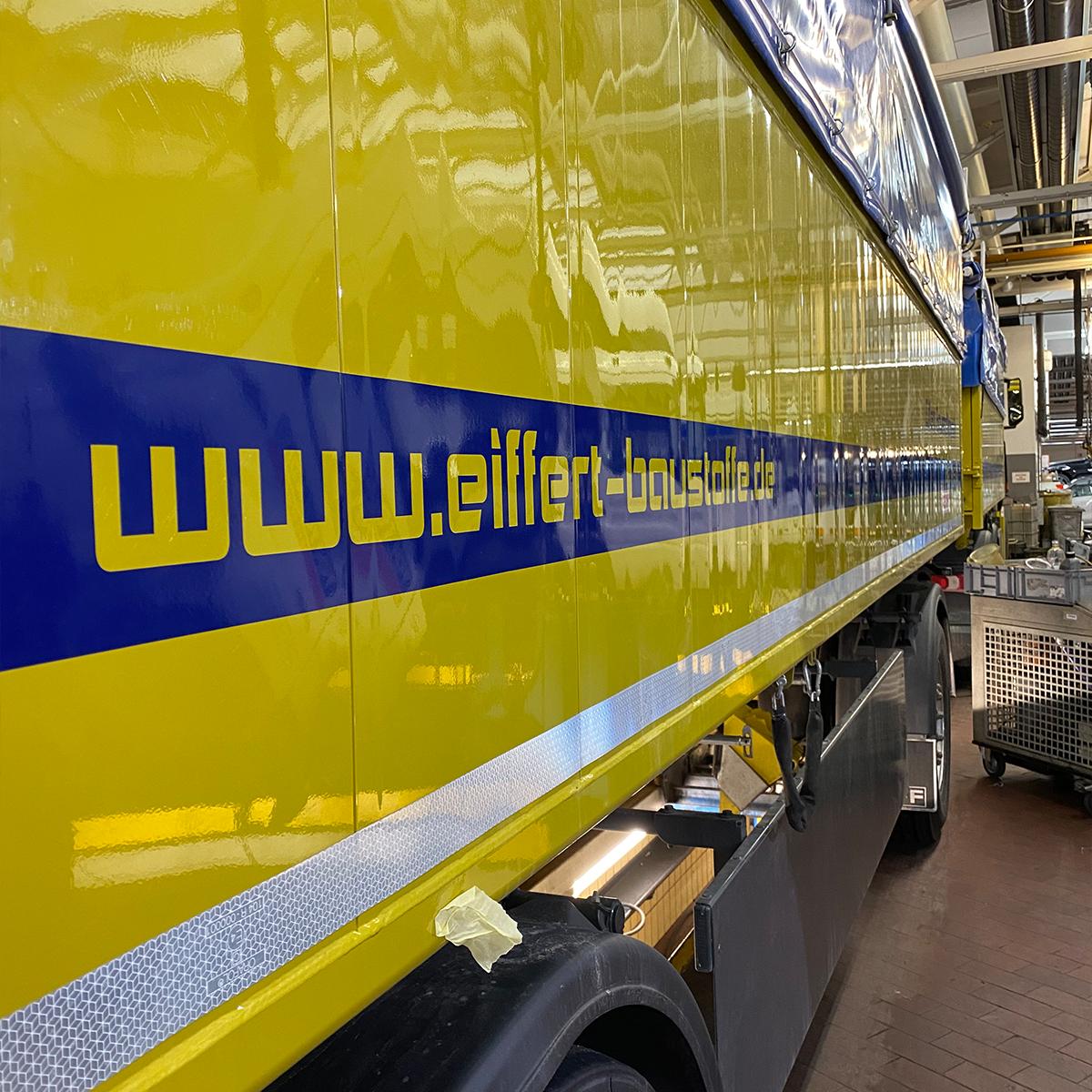 LKW Beschriftung Eiffert Baustoffe